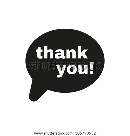 The thank you  icon. Thanks symbol. Flat Vector illustration - stock vector