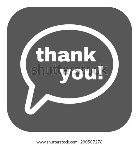 The thank you  icon. Thanks symbol. Flat Vector illustration. Button - stock vector