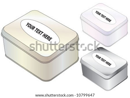 The three different color metal box