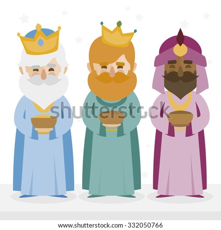 the three kings of orient isolated - stock vector