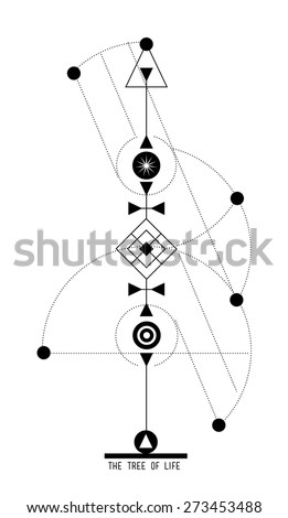 Tree Life Sigil Geometric Symbols Jewish Stock Vector Hd Royalty