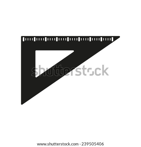 The triangle icon. Triangle symbol. Flat Vector illustration - stock vector
