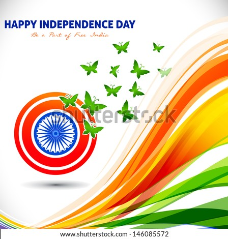 The tricolor of the Indian national flag, India - stock vector