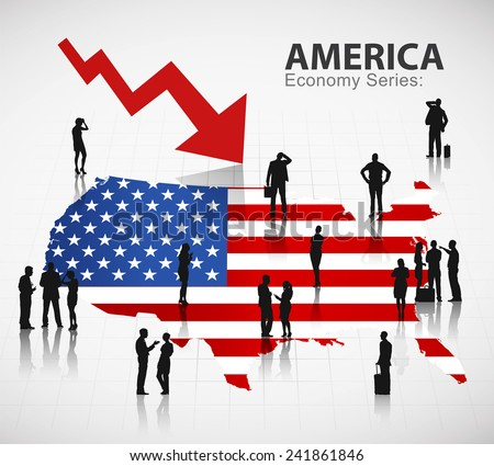 The U.S. economic crisis  - stock vector
