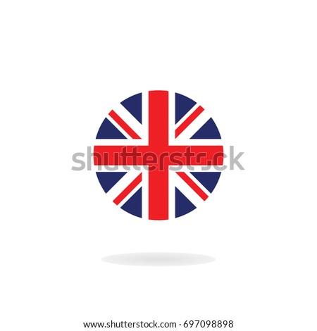 Union Jack Circle Form Vector Icon Vector de stock697098898 ...