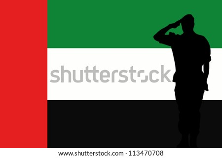 stock-vector-the-united-arab-emirates-flag-and-the-silhouette-of-a-soldier-saluting-113470708