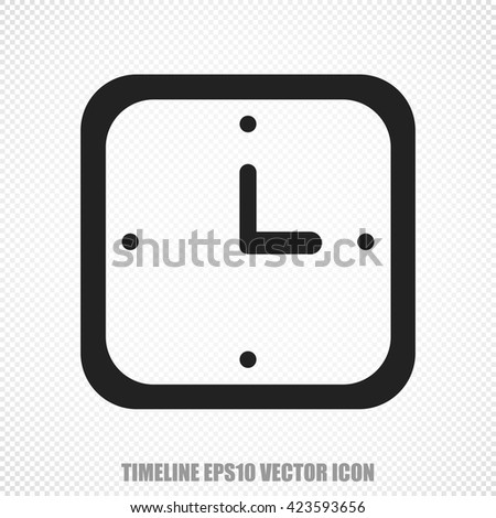 The universal vector icon on the time theme: Black Watch. Modern flat design. For mobile and web design. EPS 10.