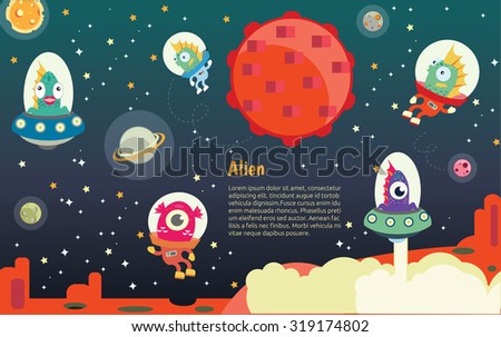 The universe kids,  Planets comparison, Sun and Moon , Galaxies Classification,Kids space learning,Full vector. - stock vector