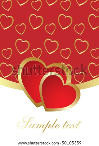 The Valentine's day card - stock vector