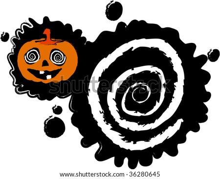 the vector halloween blot banner - stock vector