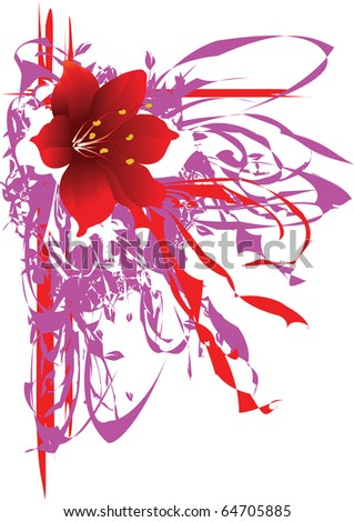 The vector illustration contains the image of abstract floral background - stock vector
