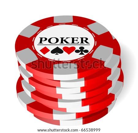 The vector illustration of gambling chips . - stock vector