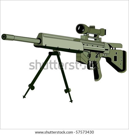 The vector image of a sniper rifle