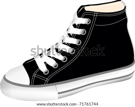 The vector image sports footwear - gym shoes - stock vector