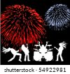 the vector musicians silhouette eps 8 - stock vector