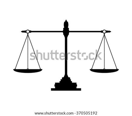 The vector of balance on white background
