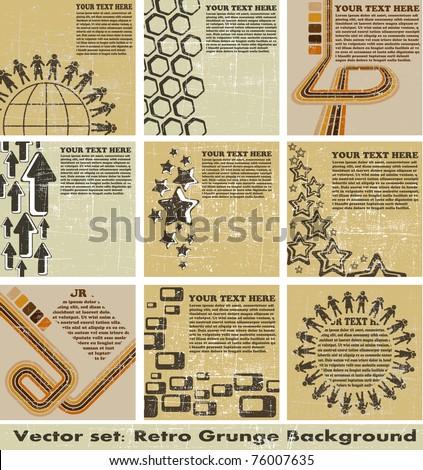 the vector retro grunge background - stock vector