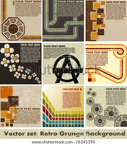 the vector retro grunge background - stock vector