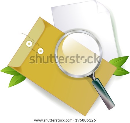 The view of document envelope
