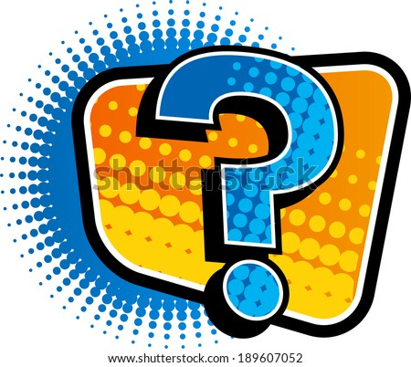 The view of question mark  - stock vector