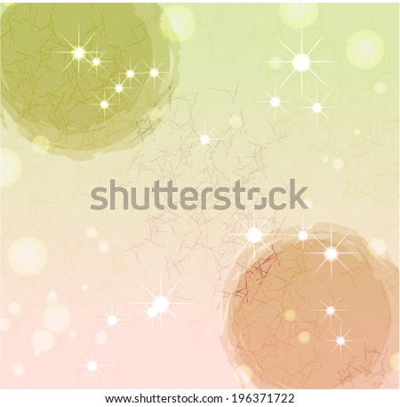 The view of traditional Korean paper  - stock vector