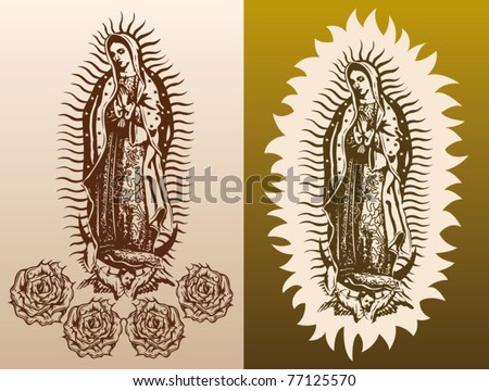 the Virgin of Guadalupe - stock vector