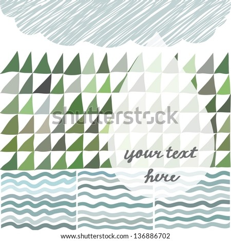 The water cycle in nature illustration - stock vector