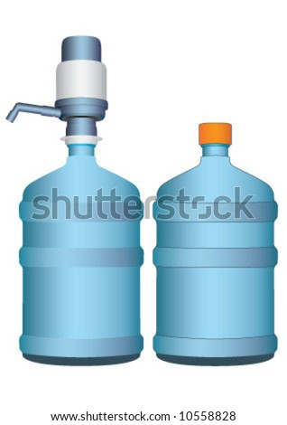 The water package with pump - stock vector