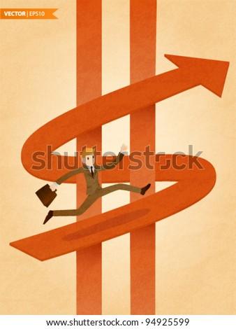 The Way of Money - stock vector