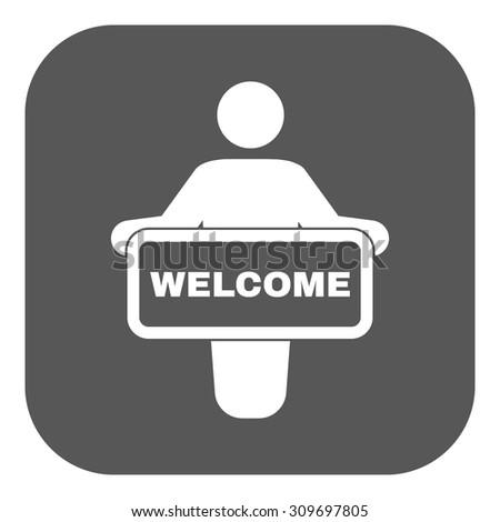 Welcome Icon Invite Symbol Flat Vector Stock Vector 309697805