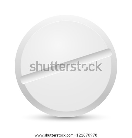The white Close up tablet on a white background