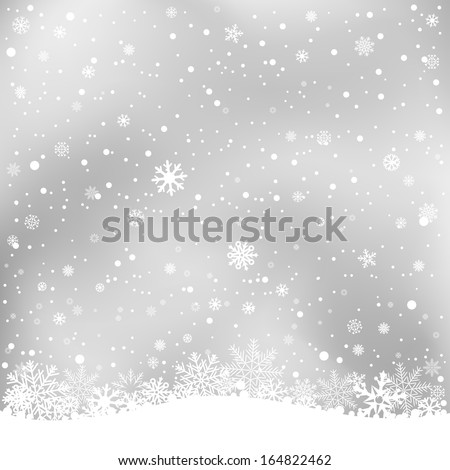The white snow on the soft light gray mesh background, winter theme. No transparent objects - stock vector