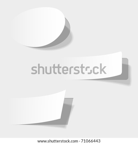 The white vector illustration of advertising coupons . - stock vector