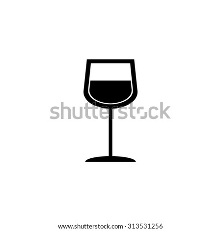 The wine glass icon - stock vector