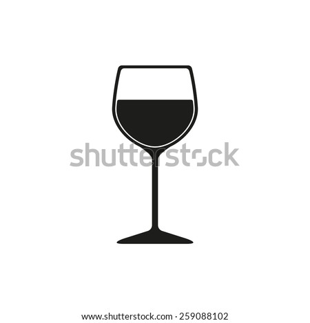 The wineglass icon. Goblet symbol. Flat Vector illustration - stock vector