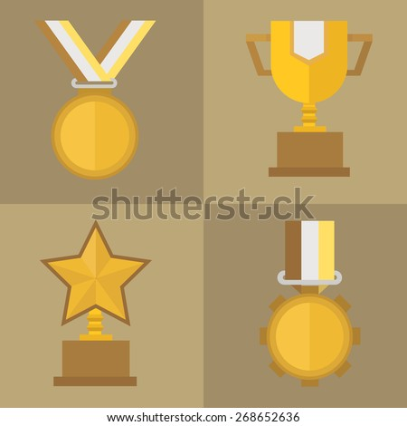 the winner first prize vector - stock vector