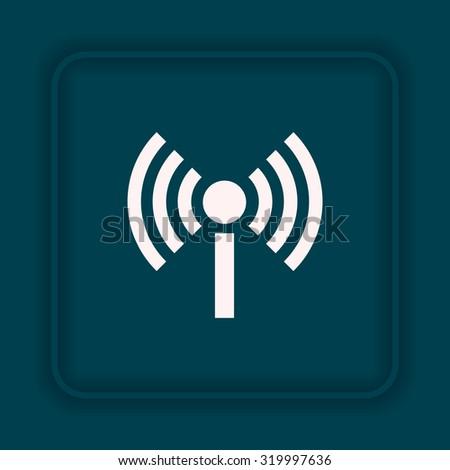 The wireless network. icon. vector design - stock vector