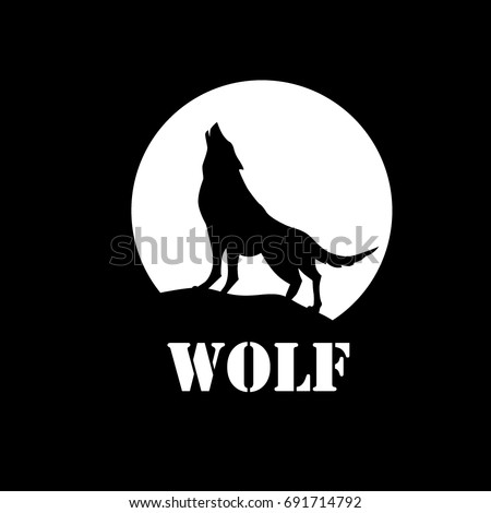wolf silhouette stock images, royalty-free images & vectors