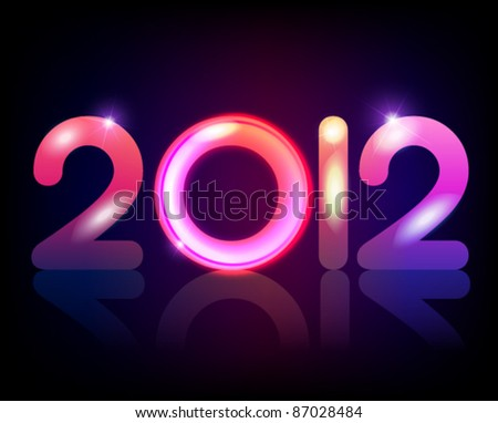 the year 2012 vector design - stock vector