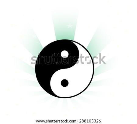The Ying-Yang Beaming - stock vector