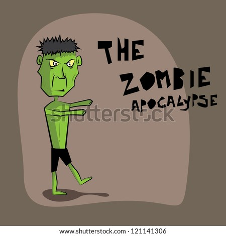 the zombie apocalypse vector - stock vector