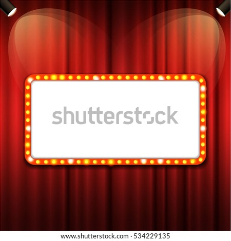 Theater Cinema Sign Glowing Neon Lights Vector de stock534229135 ...