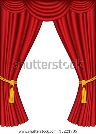 Theater curtains with white space - stock vector