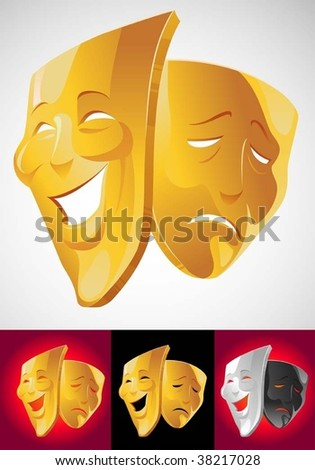 Theater masks - stock vector
