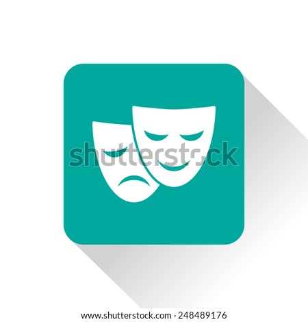 theater masks icon - stock vector