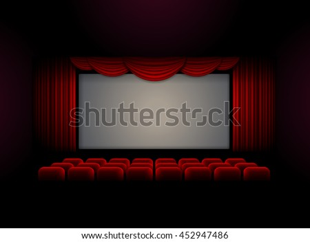 Theater stage curtain background Vector illustration