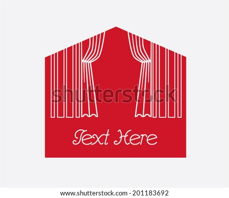 Theater Symbol with Place for Text - stock vector
