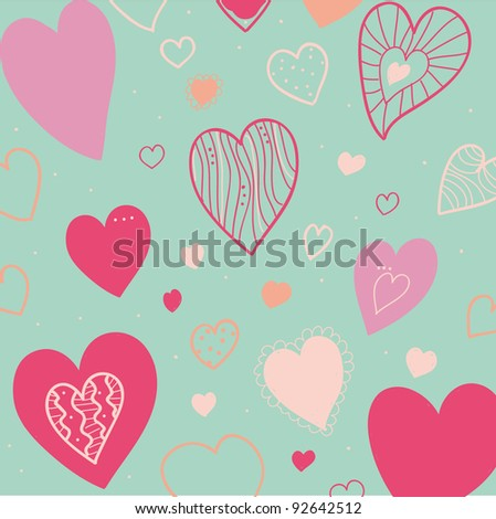 theme love heart background