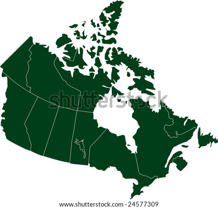 There is a map of Canada country - stock vector