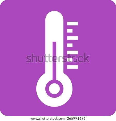 Thermometer, equipment, temperature icon vector image. Can also be used for weather, forecast, season, climate, meteorology. Suitable for web apps, mobile apps and print media. - stock vector